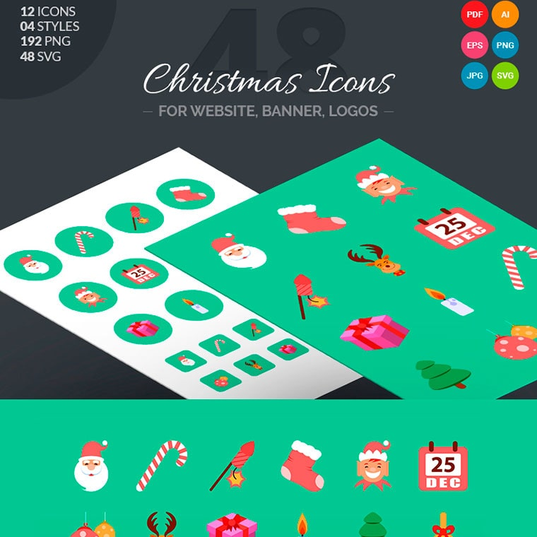 Christmas Icon Pack by webstrot