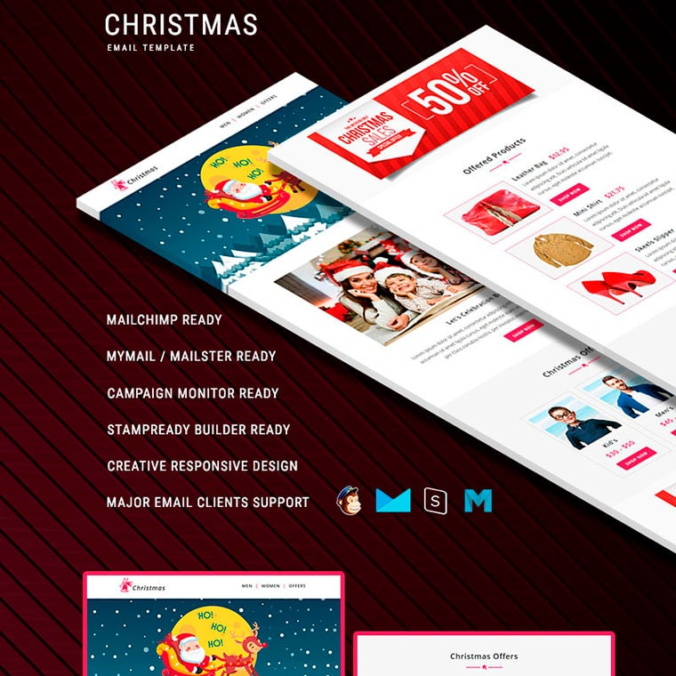 Christmas - Responsive Newsletter Template by PennyBlackTemplates