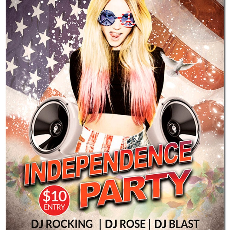 American Independence Day Party Flyer Template Corporate Identity Template by Voices_all