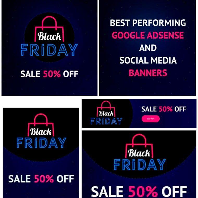 18 Black Friday Google Adsense And Social Media Banners Bundle by DesignStudio