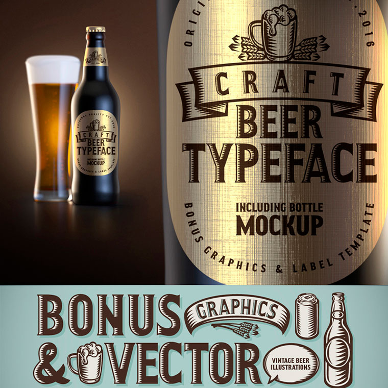 Craft Beer Typeface Font by Gleb Guralnyk