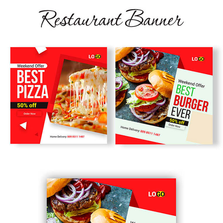 Food Banners Social Media by Abedin