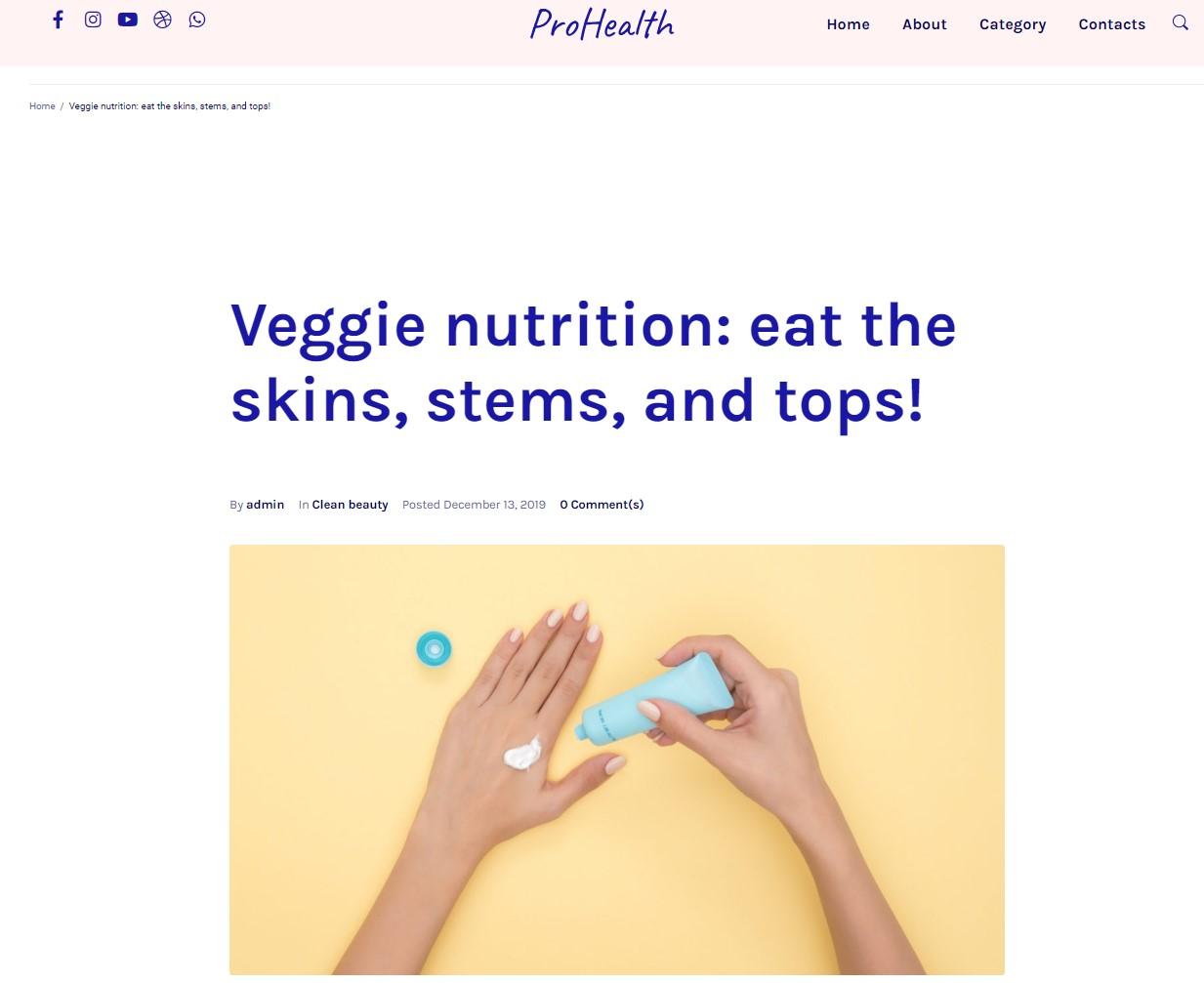 ProHealth website template
