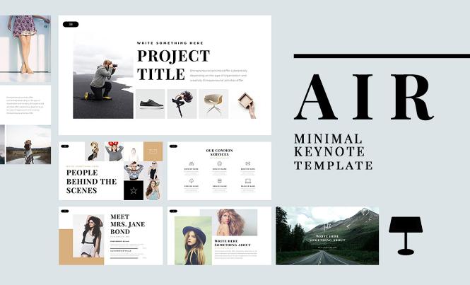 Air – Free Minimal Keynote Template