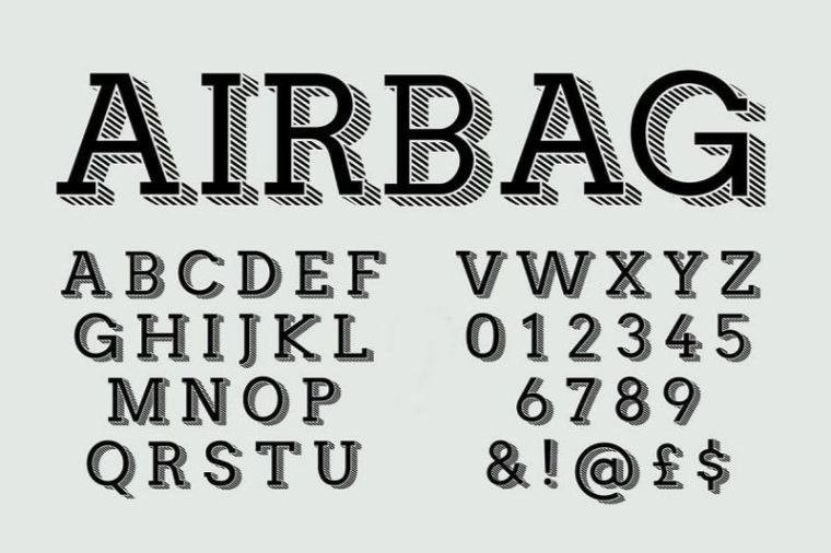 Airbag Typeface