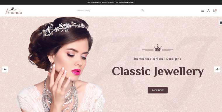 Ananda Royal Jewellery Store OpenCart Template
