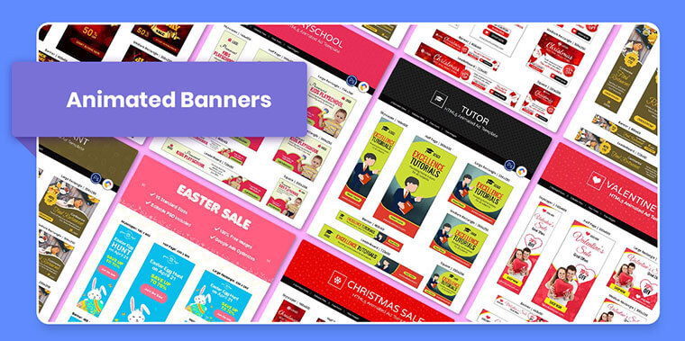 animated banners from marketing bundle