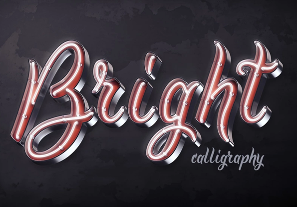 Bright Calligraphy PSD Font