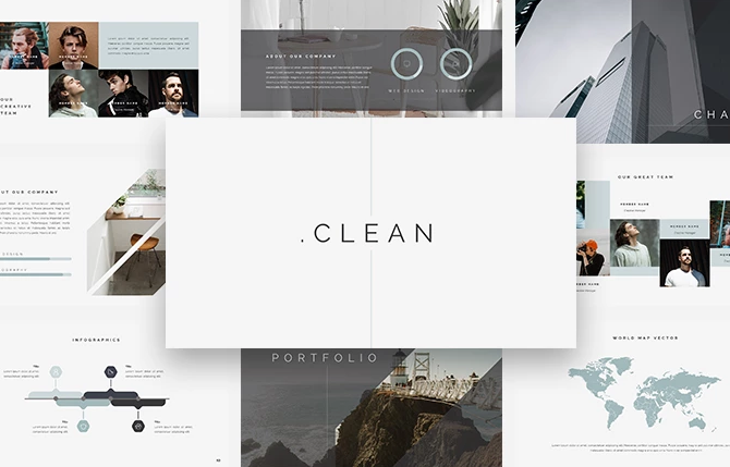 Clean Creative Keynote Template