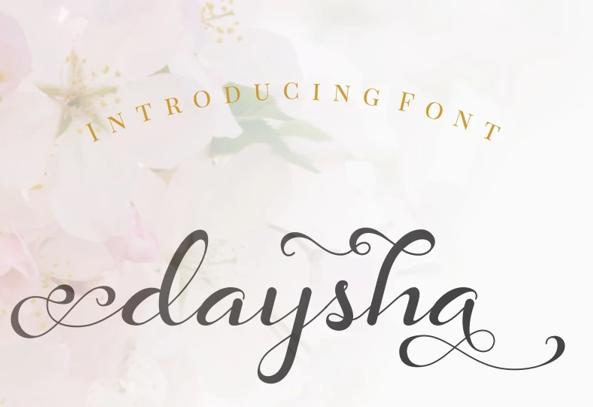 Daysha Wedding Font