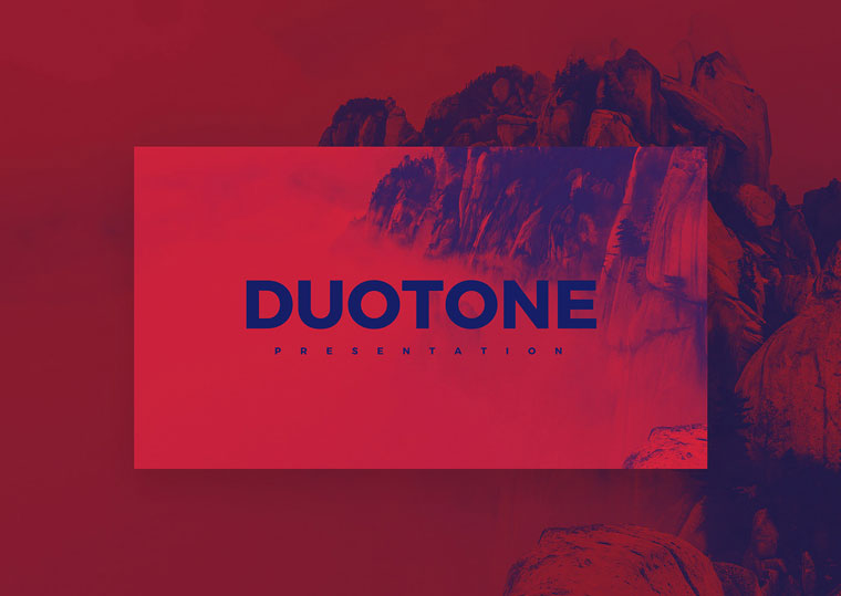 Duotone – Free Colorful Keynote Template.
