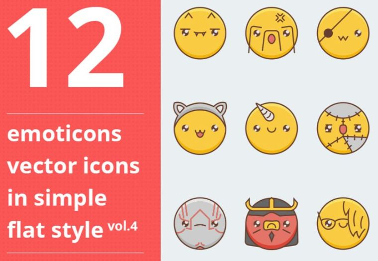 Emotions Vector Iconset Template (vol.4)