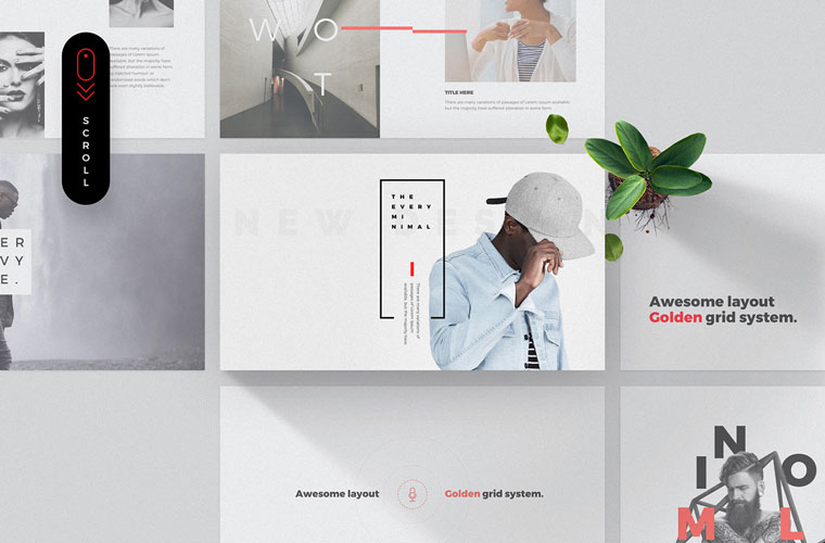 Every – Free Minimal PowerPoint & Keynote Template.