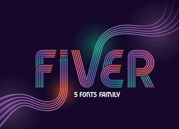 Fiver 5 Family Fonts