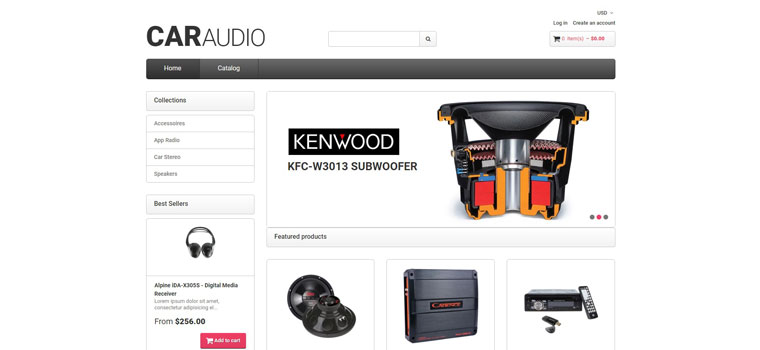 CarAudio - Car Parts eCommerce Clean Shopify Theme.