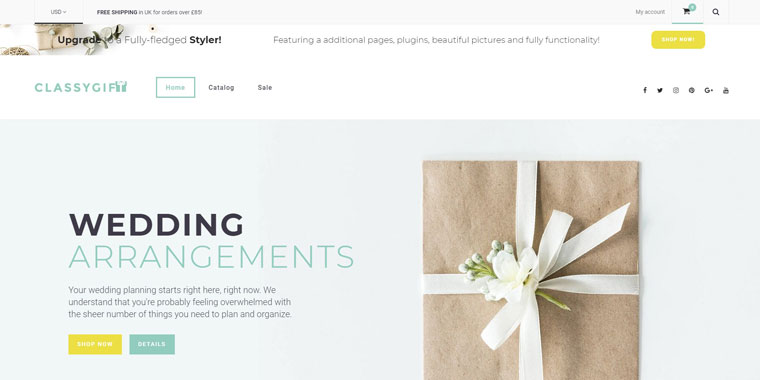 Classygift - Gifts Templates E-commerce Shopify Theme.