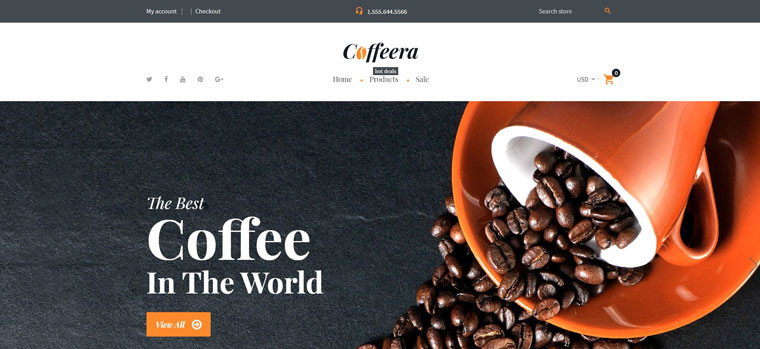 Coffeera - Coffee Shop Ready-to-Use Clean Shopify Theme.