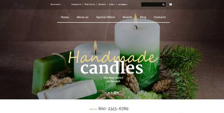 Handmade Candles OpenCart Template