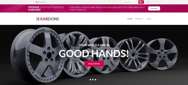 Kardone - Car Parts Free Clean Shopify Theme.