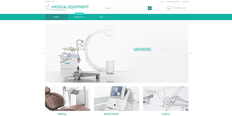 Medical Equipment - Medical Equipment Multipage Clean Shopify Theme.