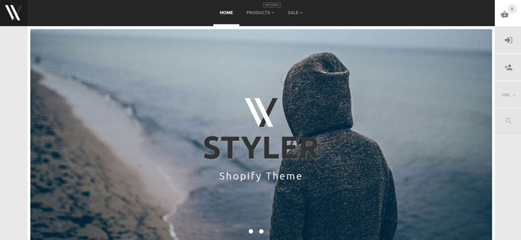 Styler - Apparel E-Commerce Stylish Shopify Theme.