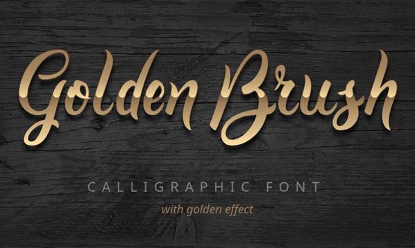 Golden Brush Font