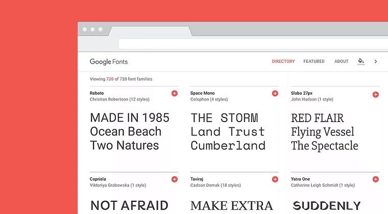 Google Fonts method.