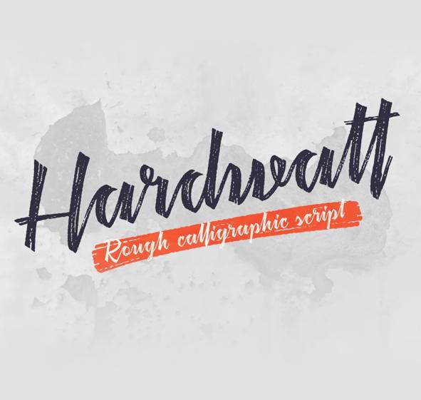 Hardwatt Script Font