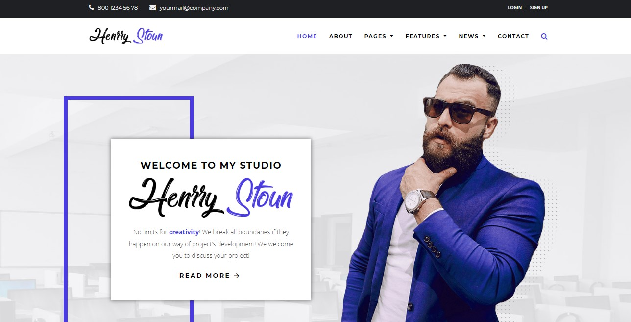 henry stoun wordpress theme