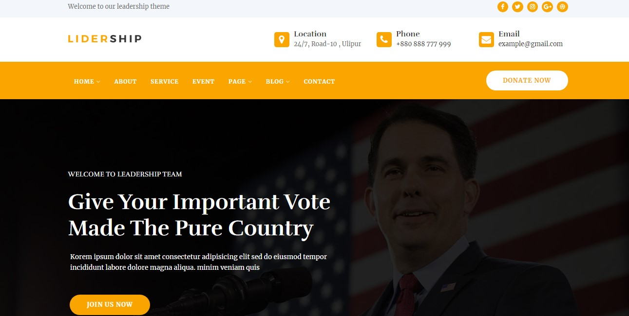 lidership website template