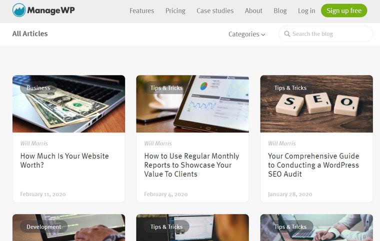 ManageWP Blog.