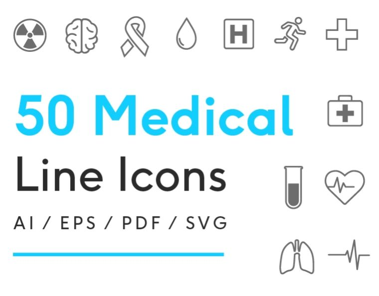 Medical Line Iconset Template