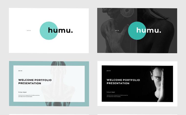 Minimal Humu Keynote Template.