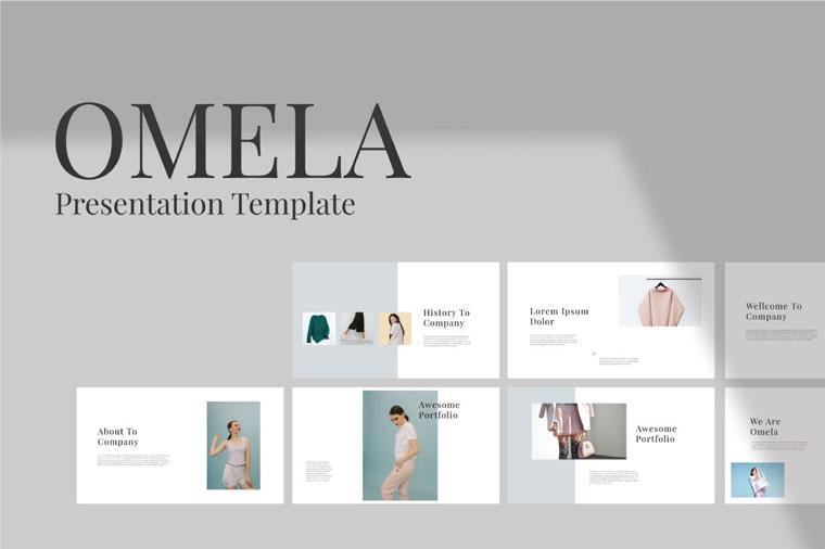 Omela – Free Clean Keynote Template.