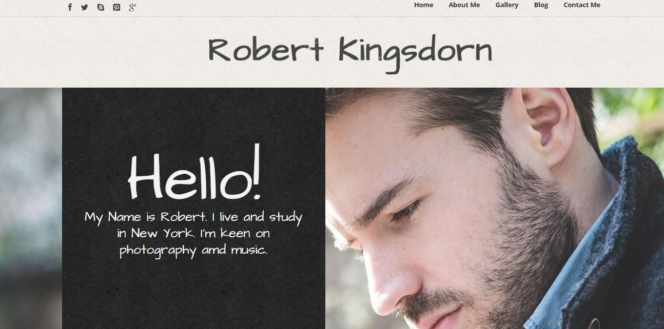 robert kingsdorn website template