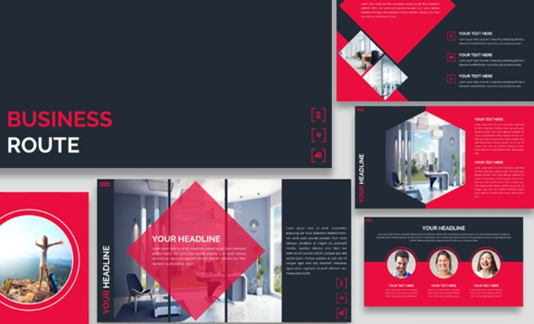 Business Route Keynote Template
