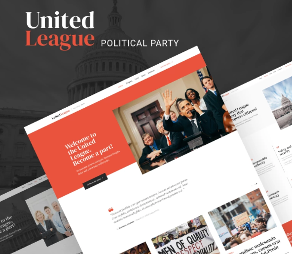 United League - Solid And Reliable Political Campaign Template WordPress Theme