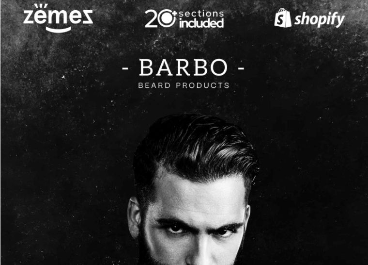 Beard Products Store website theme