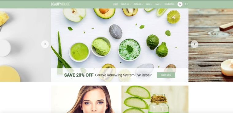 BeautyHouse website theme