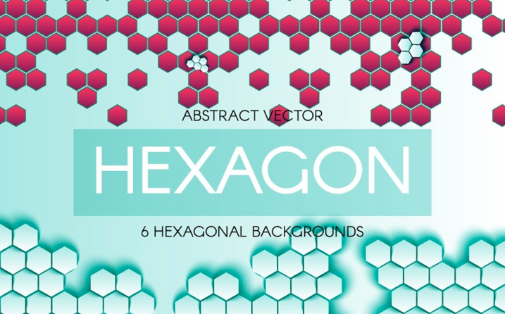 Abstract Hexagonal Backgrounds Corporate Identity Template