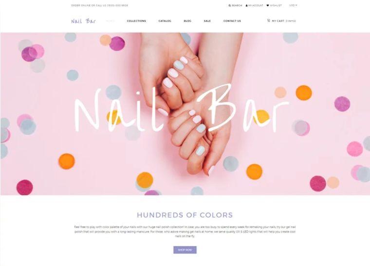 Nail Bar website theme