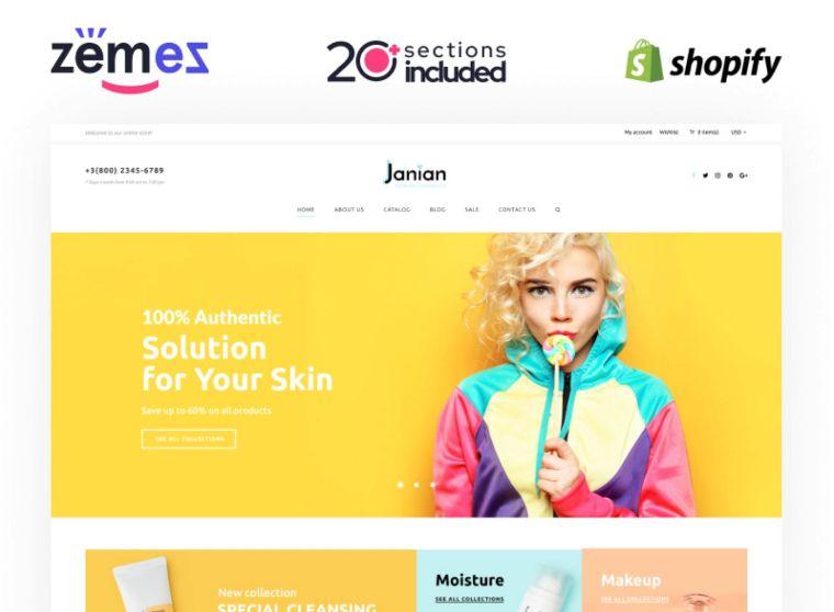 Shopify Korean Cosmetics website theme