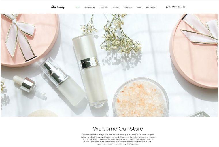 Skin beauty web template