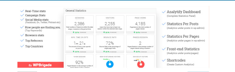 WordPress plugin Google Analytics Dashboard by Analytify