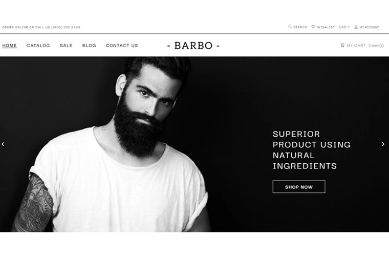 Beard Products Store Template Shopify Theme.