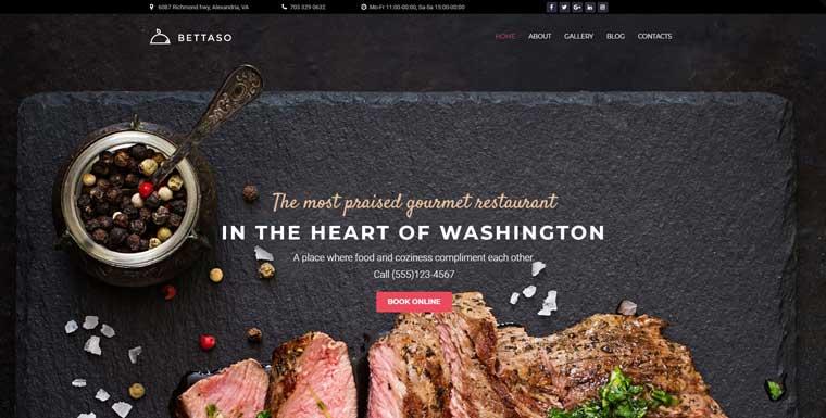 Bettaso - Cafe & Restaurant WordPress Theme.