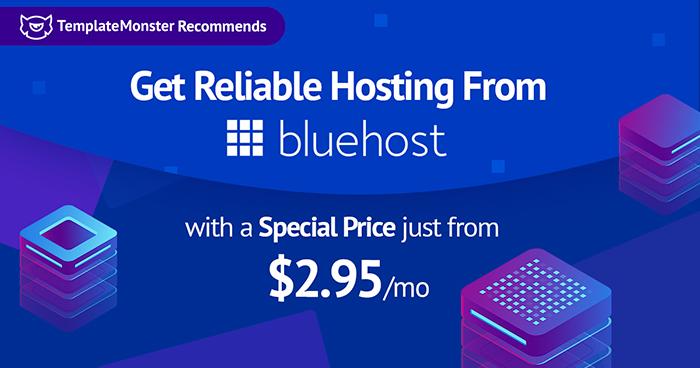 Bluehost hosting banner