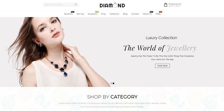 Diamond Jewellery Shopify Theme.