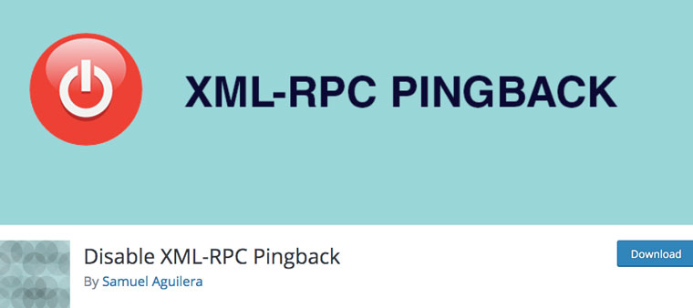 WordPress plugin Disable XML-RPC Pingback.