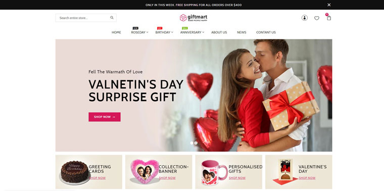 Giftmart - The Gift & Fashion Responsive Shopify Theme.